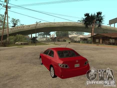 Toyota Corolla 2008 для GTA San Andreas вид сзади слева