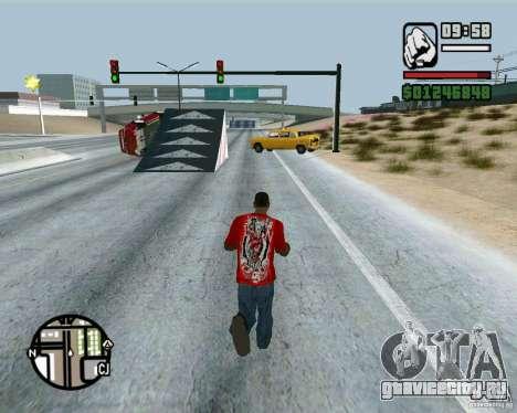 Трамплины на шоссе в Лас Вентурасе для GTA San Andreas четвёртый скриншот