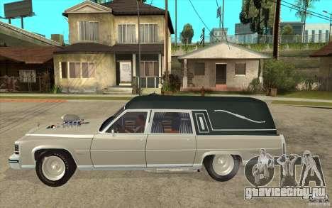 Cadillac Fleetwood 1985 Hearse Tuned для GTA San Andreas вид слева