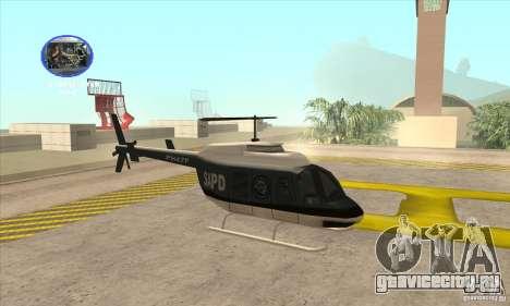 Police Maverick 2 для GTA San Andreas вид сзади слева