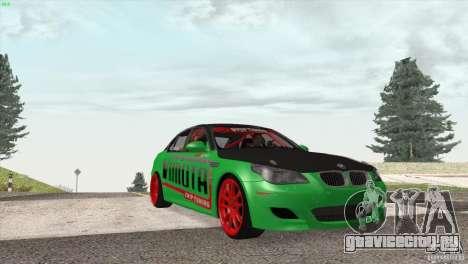 BMW M5 E60 Darius Balys для GTA San Andreas вид изнутри