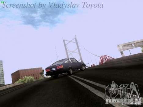 Toyota Corolla TE71 Coupe для GTA San Andreas вид изнутри