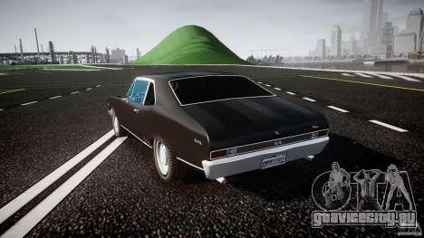 Chevrolet Nova 1969 для GTA 4 вид сзади слева