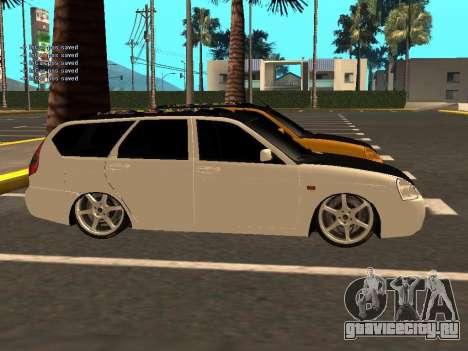 Лада Приора Хетчбэк для GTA San Andreas вид изнутри