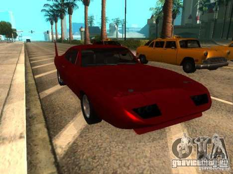 Dodge Charger Daytona Fast & Furious 6 для GTA San Andreas вид слева