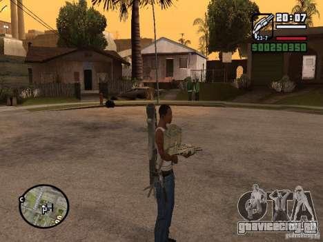 Оружие за спиной для GTA San Andreas