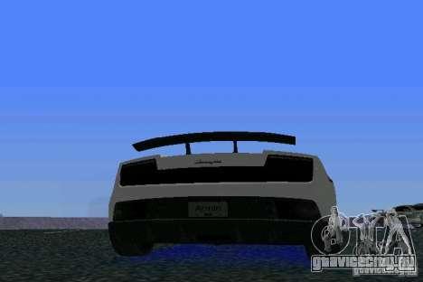 Lamborghini Gallardo LP570 SuperLeggera для GTA Vice City вид справа