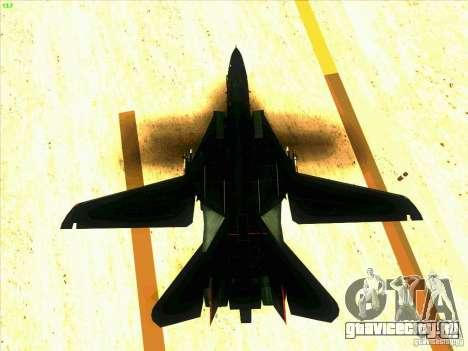 F-14 Tomcat Razgriz для GTA San Andreas вид снизу