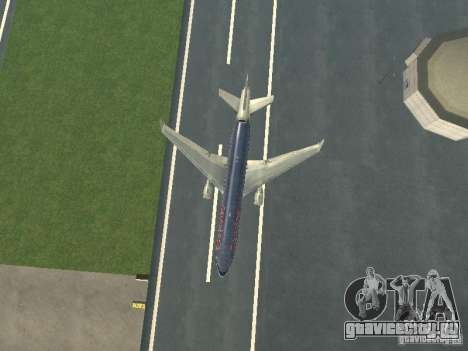 McDonell Douglas MD11 American Airlines для GTA San Andreas вид сверху