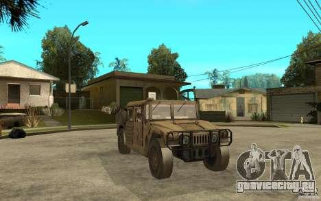 Hummer H1 War Edition для GTA San Andreas вид сзади