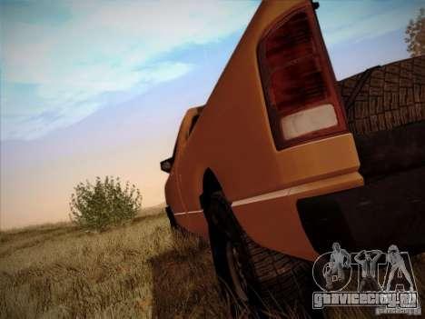 Dodge Ram 1500 4x4 для GTA San Andreas вид сзади