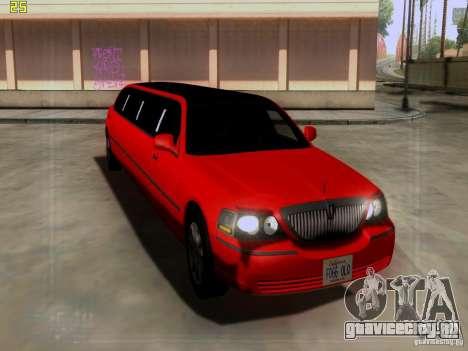 Lincoln Towncar 2010 для GTA San Andreas вид слева