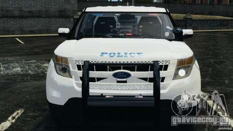 Ford Explorer NYPD ESU 2013 [ELS] для GTA 4 вид изнутри