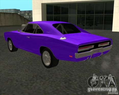 Dodge Charger RT 1970 The Fast and The Furious для GTA San Andreas вид изнутри