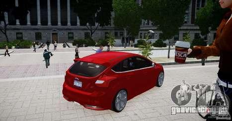 Ford Focus ST 2012 для GTA 4 вид сзади слева
