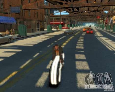 Мотоцикл из Трон (белый неон) для GTA 4 вид справа