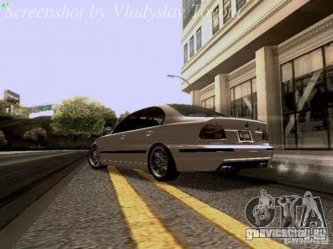 BMW E39 M5 2004 для GTA San Andreas вид сзади слева