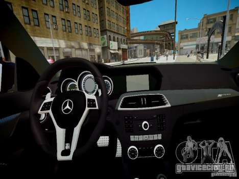 Mercedes-Benz C63 AMG Black Series 2012 v1.0 для GTA 4 вид сзади