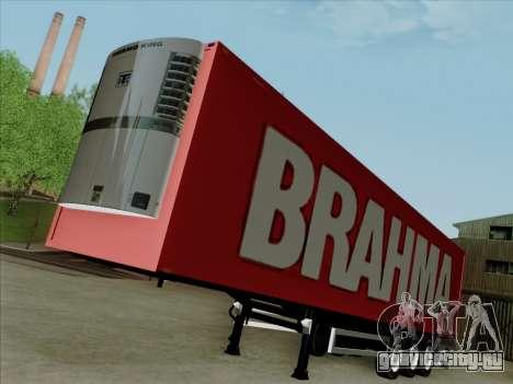 Прицеп для Scania R620 Brahma для GTA San Andreas вид сзади слева