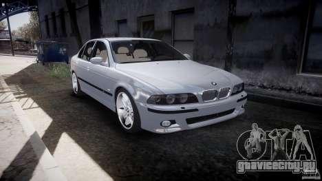 BMW M5 E39 Stock 2003 v3.0 для GTA 4 вид изнутри