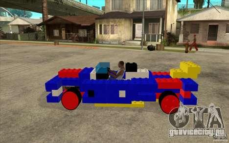 LEGO мобиль для GTA San Andreas вид слева