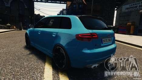 Audi RS3 Sportback V1.0 для GTA 4 вид изнутри
