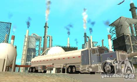 Peterbilt 379 Custom And Tanker Trailer для GTA San Andreas вид снизу