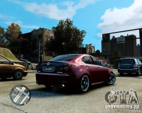 Lexus IS350 2006 v.1.0 для GTA 4 вид изнутри