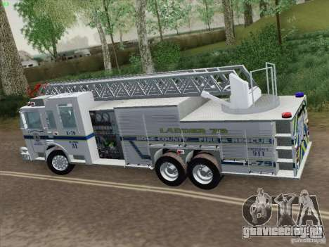 Pierce Puc Aerials. Bone County Fire & Ladder 79 для GTA San Andreas вид сзади