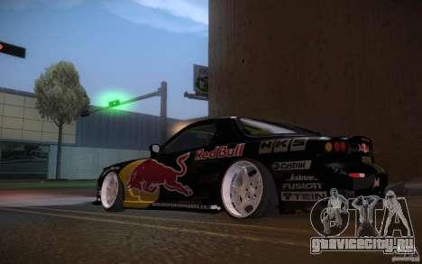 Mazda RX7 Madmikes Redbull для GTA San Andreas вид справа