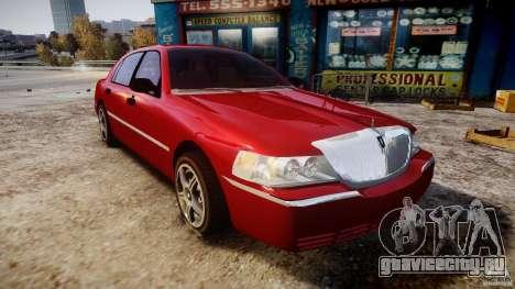 Lincoln Town Car 2003 для GTA 4 вид сзади
