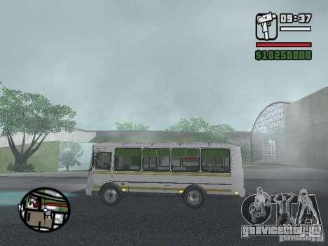 ПАЗ-32054 для GTA San Andreas вид сзади слева