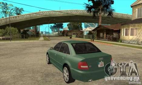 Audi S4 2000 для GTA San Andreas вид сзади слева