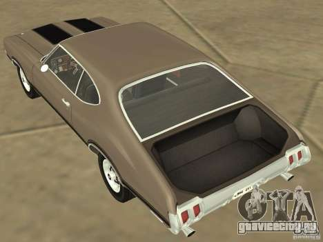 Oldsmobile 442 Cutlass 1970 для GTA San Andreas вид изнутри