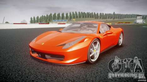 Ferrari 458 Italia 2010 для GTA 4 вид сзади