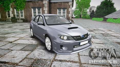 Subaru Impreza WRX 2011 для GTA 4 вид сзади