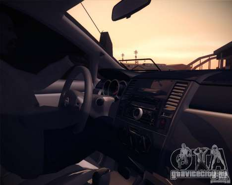 Nissan Versa Tuned для GTA San Andreas вид сзади