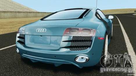 Audi R8 5.2 Stock Final для GTA 4 вид сзади слева