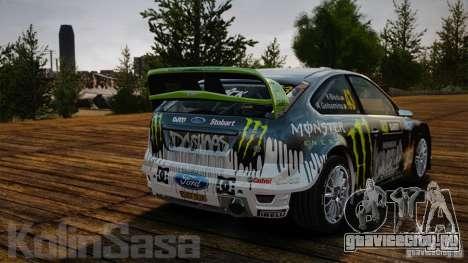 Ford Focus RS WRC для GTA 4 вид изнутри