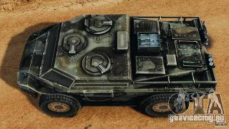Armored Security Vehicle для GTA 4 вид справа