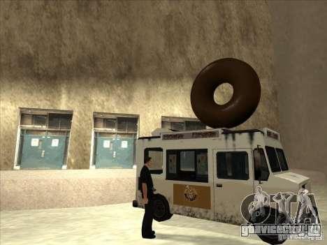 Donut Van для GTA San Andreas вид слева