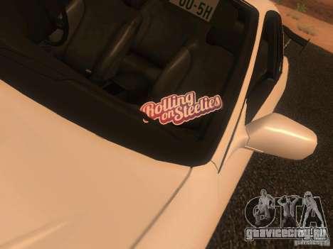 Nissan Skyline GTS R32 JDM для GTA San Andreas вид сзади