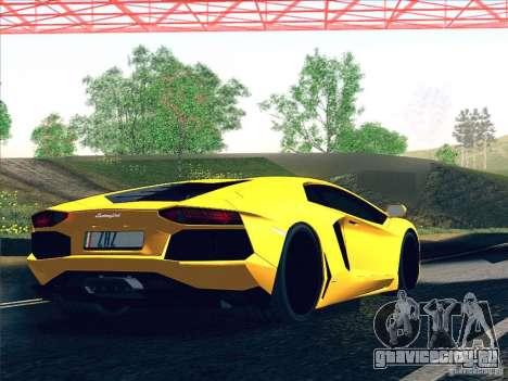 Lamborghini Aventador LP700-4 2011 V1.0 для GTA San Andreas двигатель