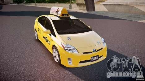 Toyota Prius NYC Taxi 2011 для GTA 4 вид сбоку