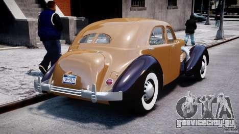 Cord 812 Charged Beverly Sedan 1937 для GTA 4 вид сбоку