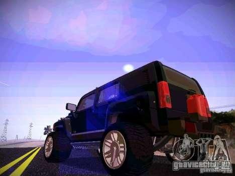 Hummer H3R для GTA San Andreas вид сзади слева