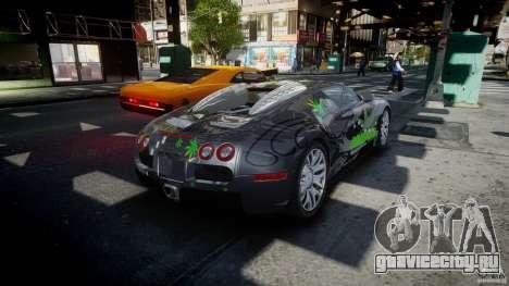 Bugatti Veyron 16.4 v1.0 new skin для GTA 4 вид сбоку
