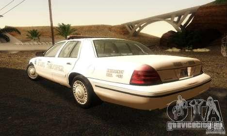 Ford Crown Victoria Neberska Police для GTA San Andreas вид слева
