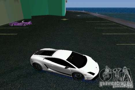 Lamborghini Gallardo LP570 SuperLeggera для GTA Vice City вид сзади