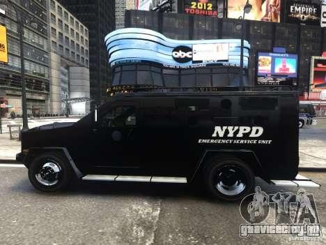 Lenco BearCat NYPD ESU V.1 для GTA 4 вид слева